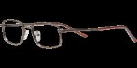 Side view of Bedford designer eyeglass frames