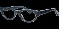 Side view of Abbey designer eyeglass frames